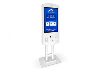 32 inch Floor Stand LCD Capacitive Touch Screen Credit Card Bill Payment Kiosk for POS Machines